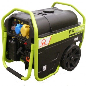 Pramac Praxio PX4000 2.5Kva Petrol Generator + AVR (Recoil Start) With Wheels & Handles