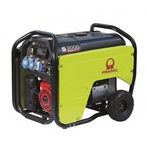 Pramac S8000 400v Electric Start 6Kva Petrol Generator with AVR + CONN
