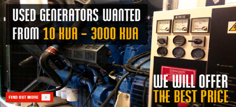 Used Generators Wanted